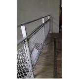 rede proteção escada Parque Mandaqui